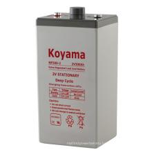 2V Stationary AGM Battery 2V300ah Lead Acid Storage Battery for Telecommunication UPS Battery