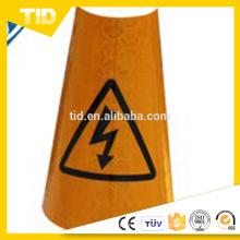 Mangas de cono de tráfico reflectantes de PVC colapsable