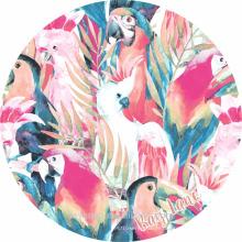 100% coton doux conception de conception de porrot rond serviettes de plage