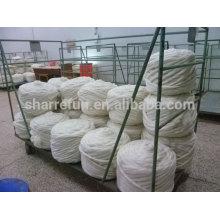 Top blanco crudo natural de las lanas de las ovejas del chino que va para hacer girar