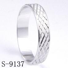Glänzende u. Art- und Weiseschmucksache-Hochzeits-Ring 925 Silber (S-9137)