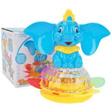 Regalo eléctrico de animales de girasol flash de elefante de música de juguete