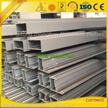 Quadro de alumínio revestido do pó para a construção da parede da construção da parede de cortina