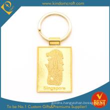High Quality Custom Logo Fashion Coin Holder Hardware Metal Crafts Enamel Zinc Alloy Gold Plating Keychain Key Ring
