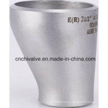 Ss 304 316 Soldadura a tope Accesorios de tubería de acero inoxidable Reductor excéntrico