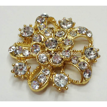 Gold Metal Shoe Clips for Bridal with Crystal Stone Embellished