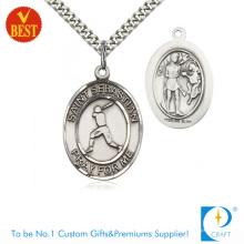 Religiöses Werbungs-kundenspezifisches antikes silbernes Überzug-Eisen, das Baseball-Medaille 3D stempelt