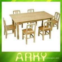 Kindergarden Table et chaises en bois