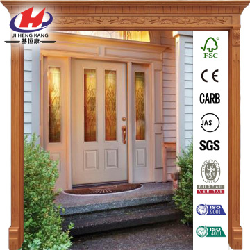 Decorative Glass 8-Panel Prehung Front Door