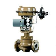 Válvula de Control de globo tipo diafragma neumática con posicionador de Siemens