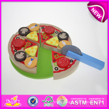 Hot New Product for 2015 Kids Wooden Toy Cake Set, Children Wooden Toy Birthday Cake, Role Play Cutting Wooden Cake Toy W10b094