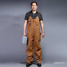 Mens тяжелых саржевого строители работают комбинезон нагрудник и фигурной скобки общий брюки (BLY4002)