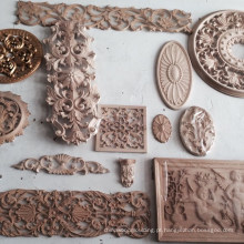Decorações internas de madeira esculpida