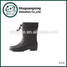 Hasta las rodillas PVC moda botas PVC lluvia Botas B-808 de botas de lluvia de hombre