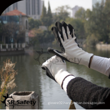 SRSAFETY cheap price/13g knitted nylon foam latex safety gloves/hand glvoes