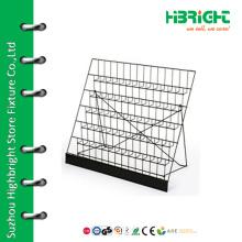 Wire mesh comic books display rack