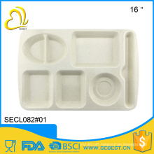 wholesale serving trays dining room tableware melamine partition plate