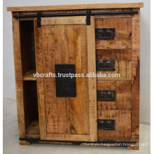 shabby chic wooden metal cabinet