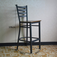 Silla de la barra del restaurante del metal de la vendimia negra alta (SP-LC286)