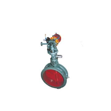 Triple eccentric pneumatic hard sealing check valve