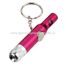 Promotion Plastic LED Keychain, OEM Orders are Welcome