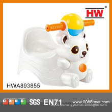 Engraçado animal urso forma plástico cadeira de bebê WC