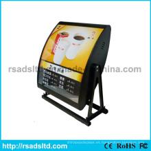 Tablero del menú de exhibición de la publicidad del LED para el pie rápido