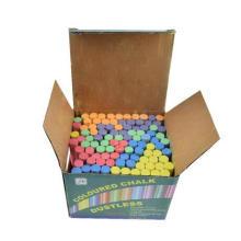 100 pcs small bright color school dutless chalk for blackboard