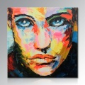 Ручная роспись Современная картина Палитра Нож стены Искусство Декор Аннотация Портрет Поп Картина маслом на холсте