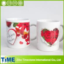 Taza cerámica de alta calidad con diseño rosa (15041102)