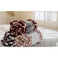 Cobertura coral impressa estilo do velo do paraíso, cobertor de lã