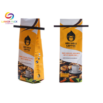 Anti Bocor Reusable Quad Seal Coffee Packaging Bags
