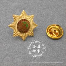 Insignia de metal plateado, placa chapada en oro (GZHY-LP-021)