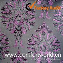 Tissu de Rideau jacquard, faite de 82 % polyester, 18 % Viscose