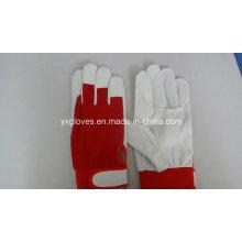 Work Gloves-Garden Glove-Safety Glove-Pig Grain Leather Glove-Labor Glove