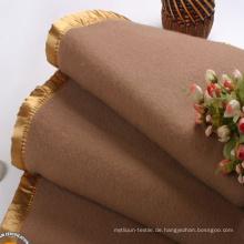Bunte Plain Design Wolle Decke