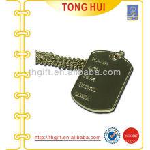 Placa de viaje perro etiqueta collar de imitación de joyería de metal