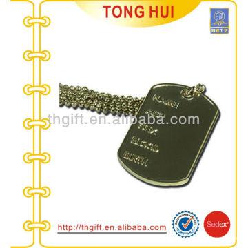 Placa de viagem etiqueta de cão etiqueta jóia de imitação de metal