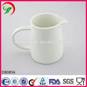 Pote de leche de cerámica BLANCO al por mayor directo de fábrica