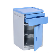 New trend product High Quality ABS Movable Hospital Bedside Table Medical Blue Cabinet Hospital Furniture