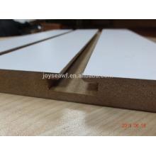 Melamin geschlitzte MDF-Platte / Slatwall MDF
