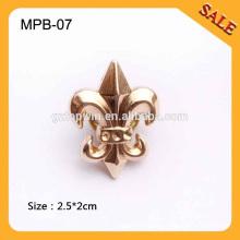 MPB07 Insignias calientes del Pin del metal de la ropa de la venta, insignia especial de la ropa del diseño, pernos de la solapa de la manera