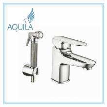 Heavy Body Basin Mixer Faucet with Shattaf (AQ4054-1)