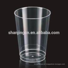 10 oz 12 oz claro transparente FDA personalizar PS copo de tumbler plástico eco-friendly descartável