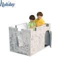 Playhouse de papelão para impressão de papelão ondulado para crianças