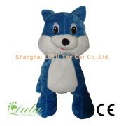 Blue Cat hewan pengendara koin dioperasikan mesin