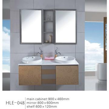 Muebles de baño de acero inoxidable con espejo Vanity con buena calidad