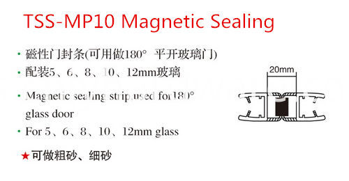 Magnetic Pvc Bathroom Waterproof Seal Strip