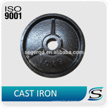 Placas de levantamento de peso de ferro fundido para barra