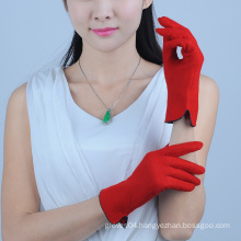 Red Premium Original Design Sheep Wool Gloves for Girl,TouchScreen Wool Gloves